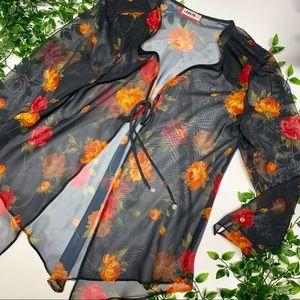 Vintage Floral Sheer Cardigan